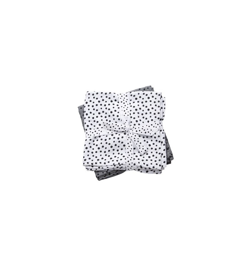 Pack muselinas dots gris