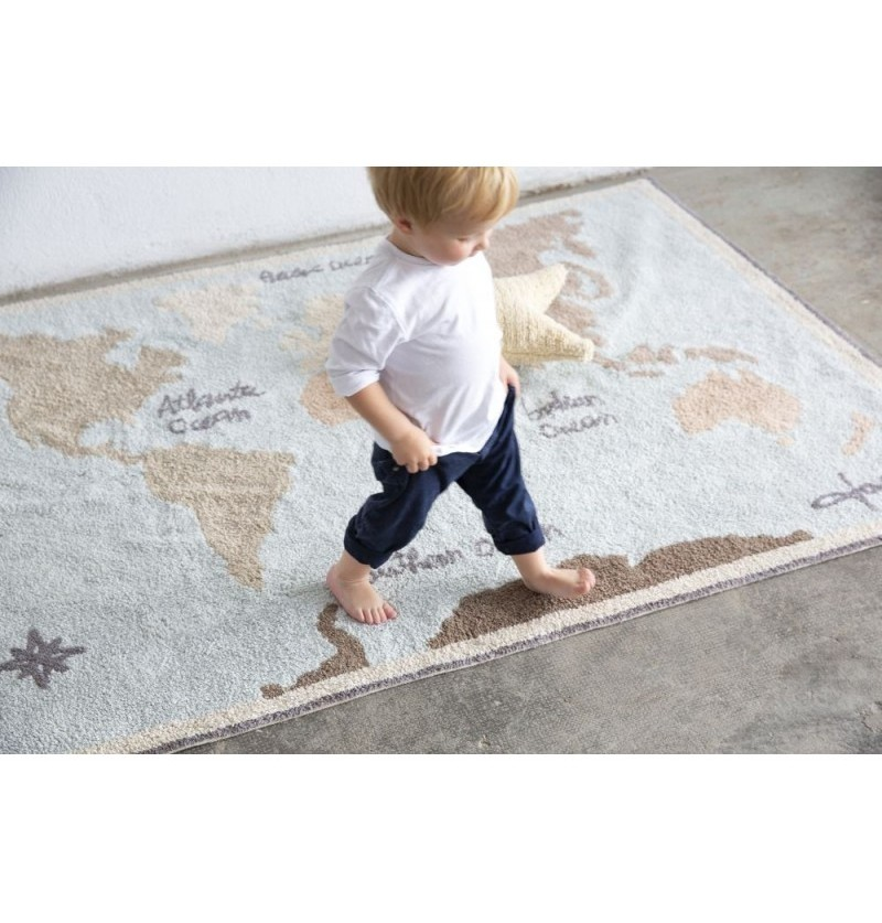 Alfombra Lavable Vintage Map